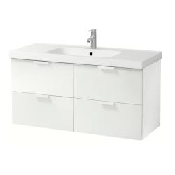 GODMORGON/ODENSVIK Armario para lavamanos+4 gavetas