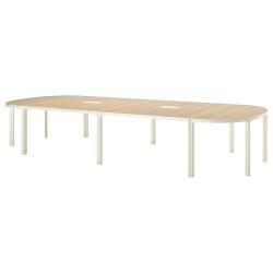 BEKANT Mesa de reuniones 420x140 cm roble/blanco