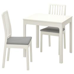 EKEDALEN/EKEDALEN Mesa y 2 sillas