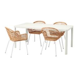 TINGBY/NILSOVE Mesa con 4 sillas