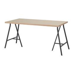 LINNMON/LERBERG Mesa de escritorio 150x75 cm beige/gris