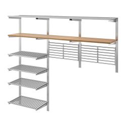 KUNGSFORS Riel de montaje+estantes/rejillas