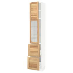 SEKTION/MAXIMERA Hi cb w glass dr/2 drawers/1 door