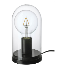 ROPUDDEN/LUNNOM Pie lámpara mesa+bomb