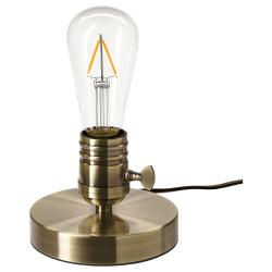 MEGAGRAM/LUNNOM Base lámpara mesa+bombilla