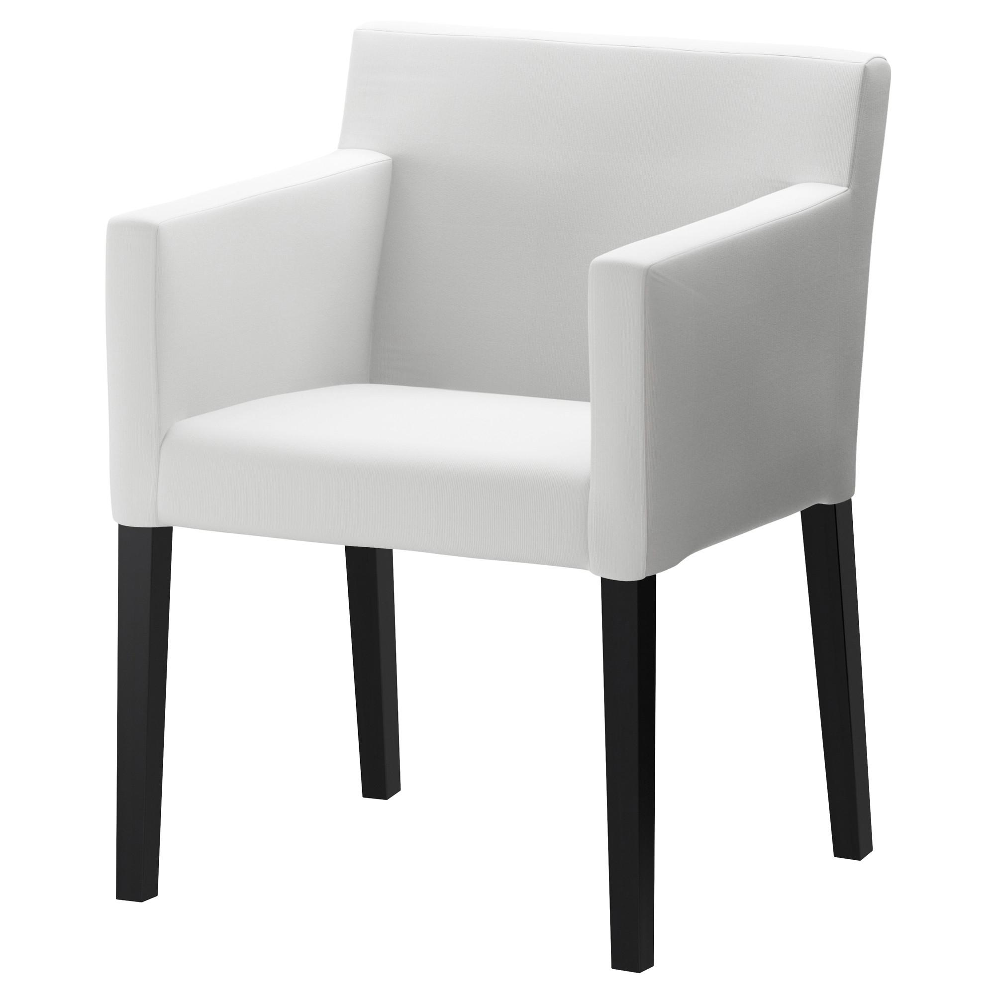 Nils silla con reposabrazos blekinge blanco for Sillas tapizadas con reposabrazos