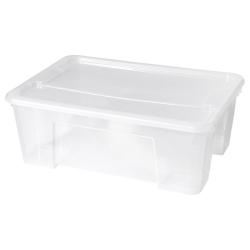 SAMLA Caja con tapa transparente