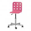JULES Silla giratoria junior, con asiento rosa
