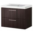 GODMORGON/ODENSVIK Armario lavabo 2 cajones 80cm