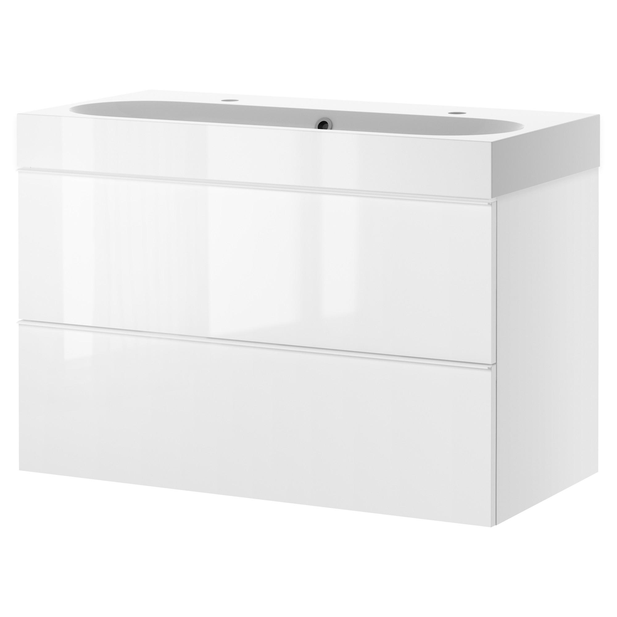 Godmorgon braviken armario lavabo 2 cajones 100cm - Armario lavabo ikea ...