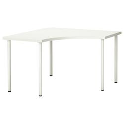 LINNMON/ADILS Mesa de escritorio de esquina 120x120 cm blanco