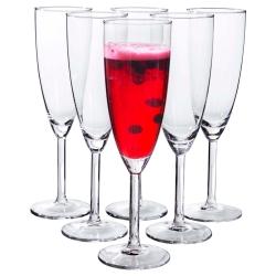 SVALKA Juego de 6 copas de cava/champán, vidrio, 15cl