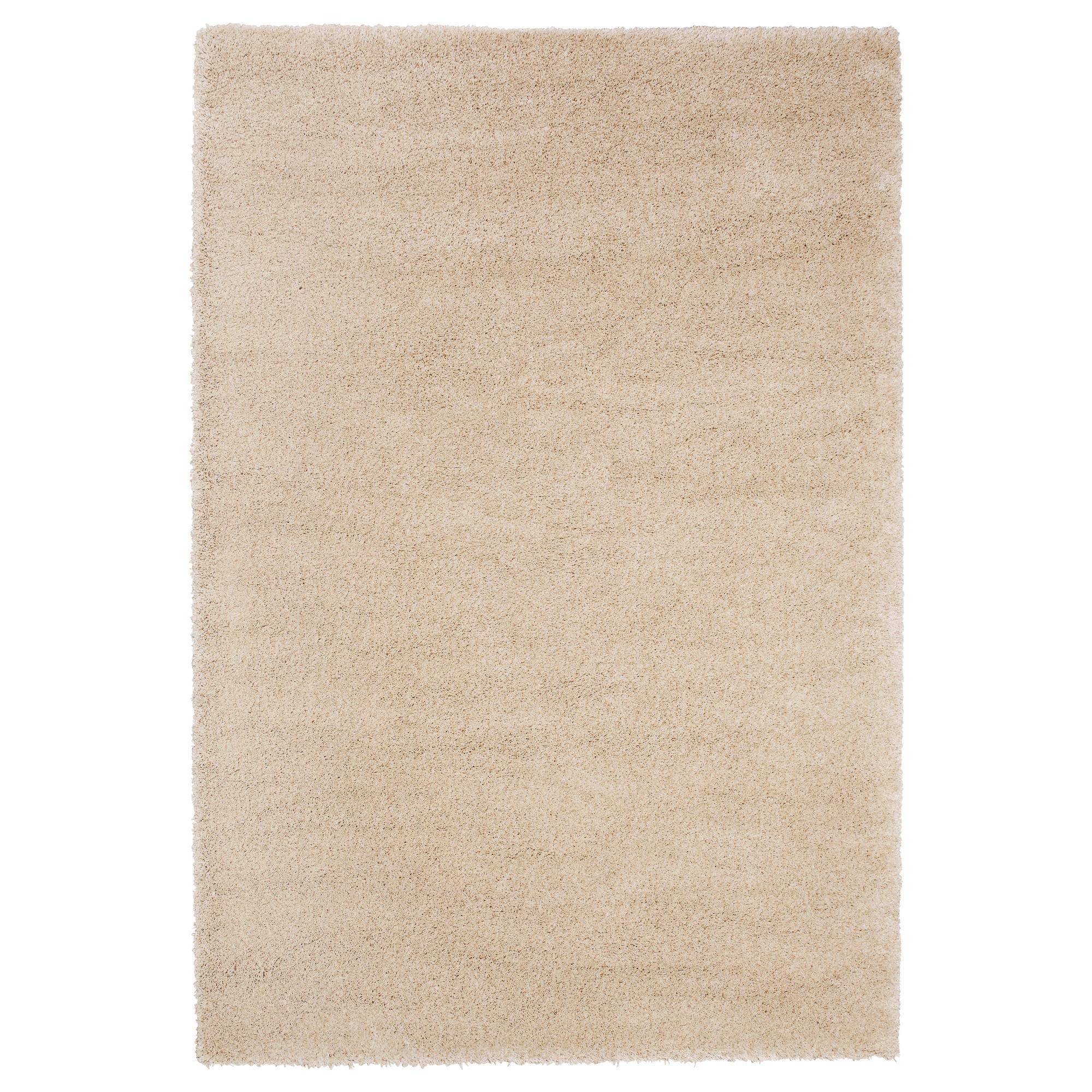 Ådum alfombra, pelo corto 170x240 hueso