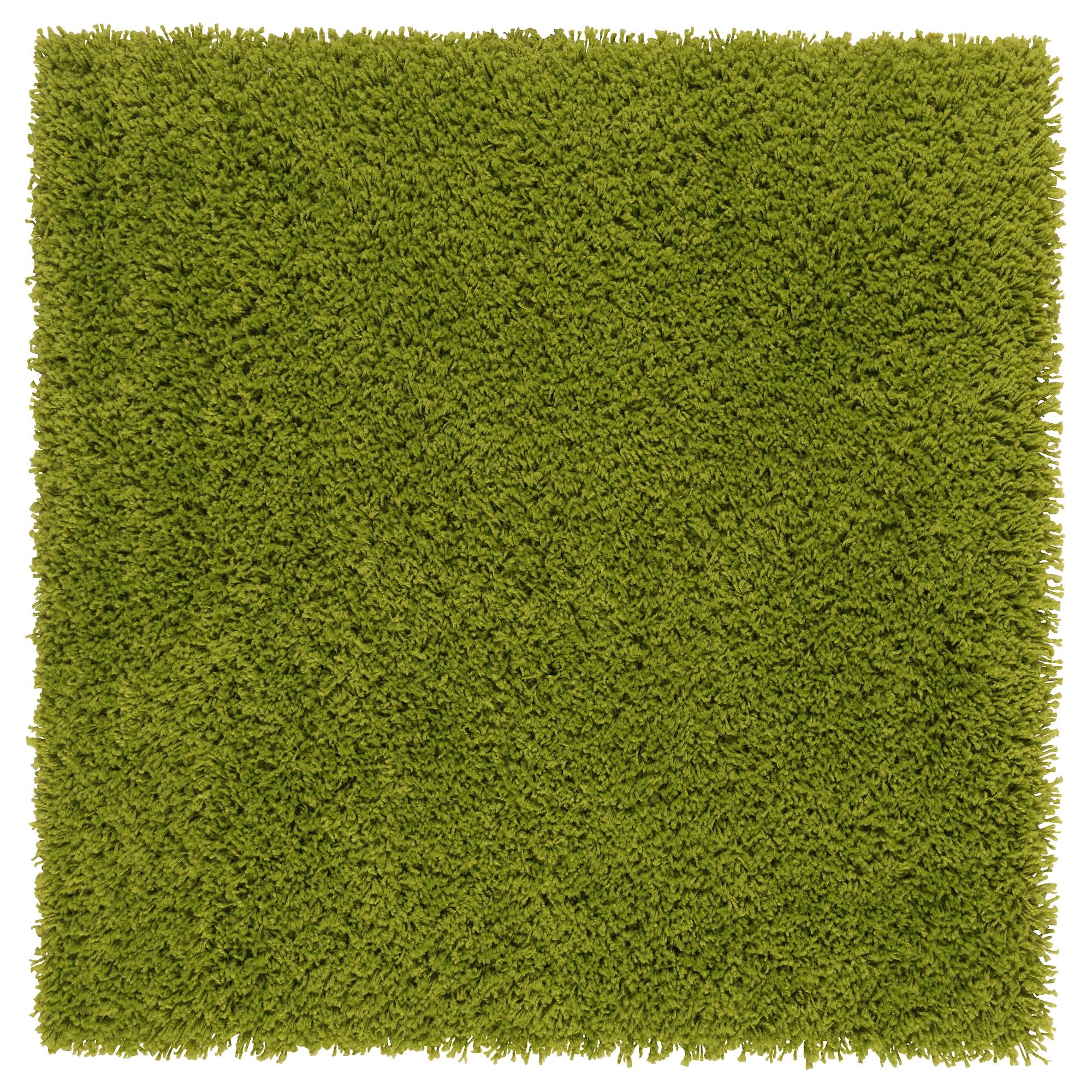 HAMPEN Alfombra, pelo largo 80x80 verde