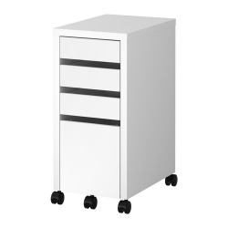 MICKE Drawer unit with drop-file storage