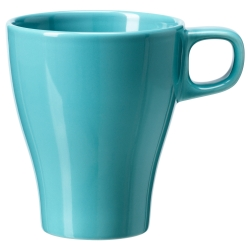 FÄRGRIK Taza de cerámica turquesa, 8.5 oz