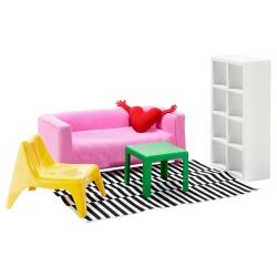 HUSET Mobiliario muñecas salón
