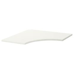 LINNMON Tablero esquina para escritorio 120x120 cm blanco