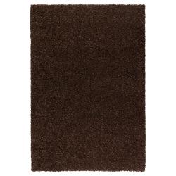 ALHEDE Alfombra, pelo largo 133x195 marrón