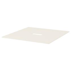 1 x BEKANT Tablero para mesa de reuniones 140x140 cm blanco