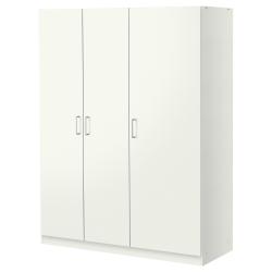 DOMBÅS Ropero 3 puertas blanco