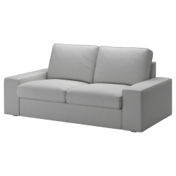 1 x KIVIK Funda sofá 2 plazas ORRSTA gris claro