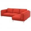 NOCKEBY Funda sofá 2 plazas+chaise longue