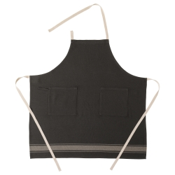 VARDAGEN Delantal algodón/lino negro