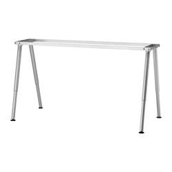 1 x THYGE Estructura para tablero escritorio 160x80 cm gris