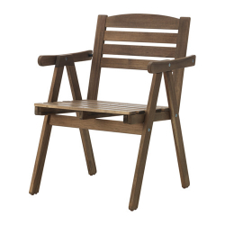 FALHOLMEN Chair with armrests, outdoor