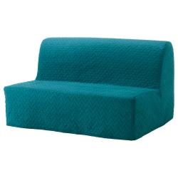 1 x LYCKSELE Funda para sofá cama, VALLARUM turquesa