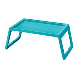 KLIPSK Bandeja de cama, plástico turquesa