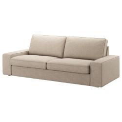 KIVIK Funda sofá 3 plazas HILLARED beige