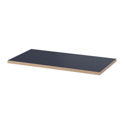 1 x LINNMON Tablero para escritorio 120x60 cm negro azul