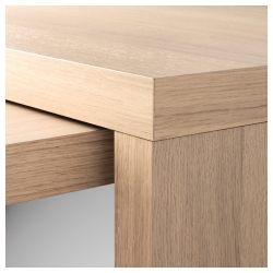 MALM Desk with pull-out panel