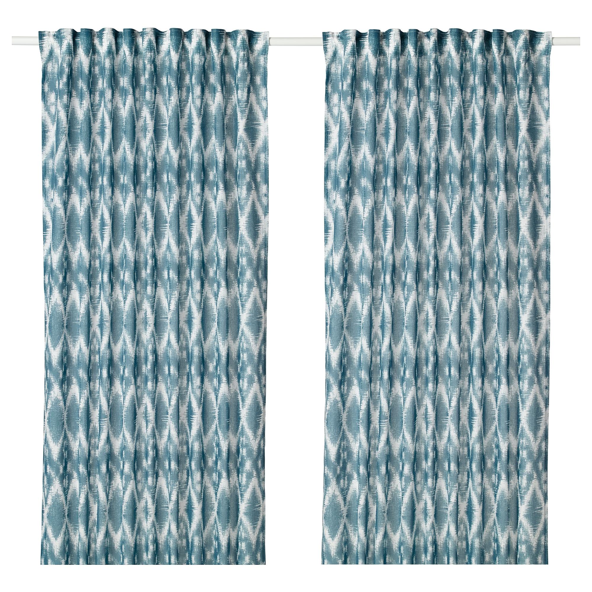 BLALILJA Curtains 1 Pair