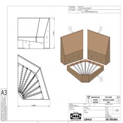 1 x LIDHULT Estructura módulo esquina