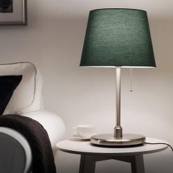 KRYSSMAST Pie de lámpara de mesa niquelado E27