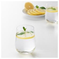 KONUNGSLIG Vaso de vidrio relieve, 35cl
