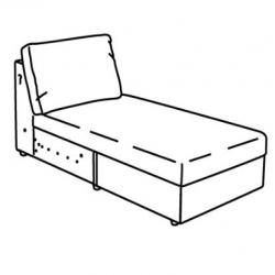 1 x VIMLE Armazón módulo chaise longue