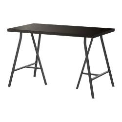 LINNMON/LERBERG Mesa de escritorio 120x60 cm negro-marrón