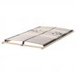 BRIMNES Cama 160, estructura con almacenaje y somier firmeza regulable LEIRSUND