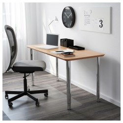 HILVER/GERTON Mesa de escritorio 140x65 cm con patas regulables