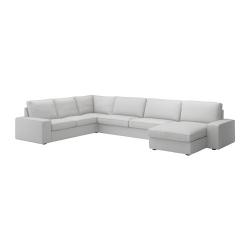 KIVIK Sofá 6 plazas con diván ORRSTA gris claro