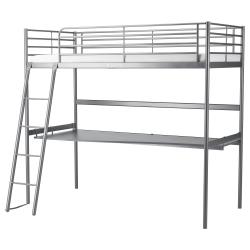 SVÄRTA Estructura cama alta+escritorio