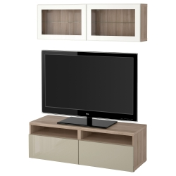 BESTÅ Mueble TV + almacenaje