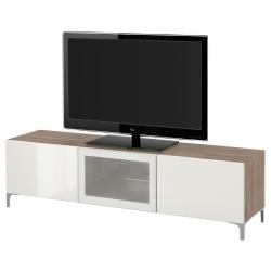 BESTÅ Banco para TV+cajones y puerta