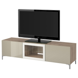 BESTÅ TV bench with drawers and door