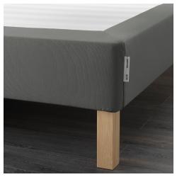 ESPEVÄR Base de colchón 90 con patas BURFJORD 20cm, funda gris