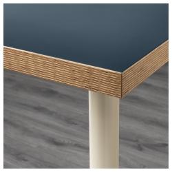 LINNMON/ADILS Mesa de escritorio 120x60 cm azul/beige